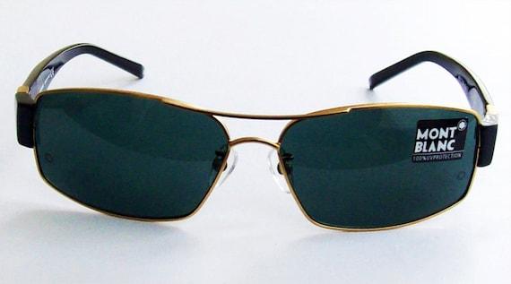lunettes de soleil mont blanc vintage des 233 es 90 or cadre