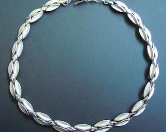 Trifari Silver Necklace Choker Vintage