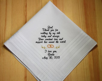 4pcs Wedding Handkerchiefs Personalized Embroidered To By Sophieli