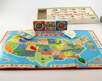 1960 Game of States Game - Complete Milton Bradley
