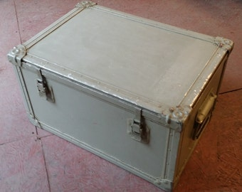 Vintage Military Metal Chest