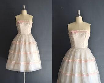 Belle / 50s short wedding dress / strapless dress
