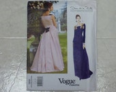 Vogue American Designer Original Pattern by Oscar de la Renta 1891  Misses' Dress  Sizes 14-16-18