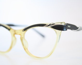 Combination Cat Eye Eyeglasses Vintage Eyewear Retro Glasses Cat Eye Frames