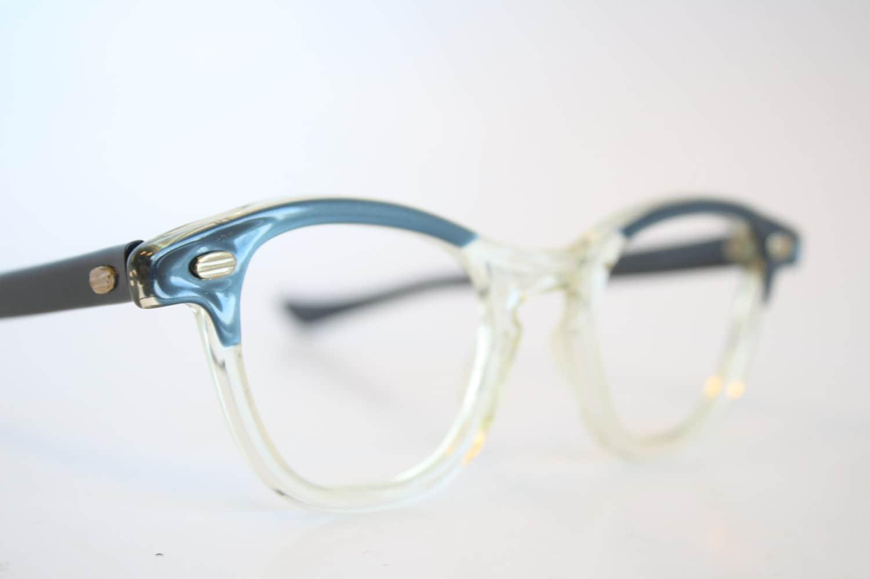 Blue & Clear Cat Eye Eyeglasses Vintage Eyewear Retro Glasses
