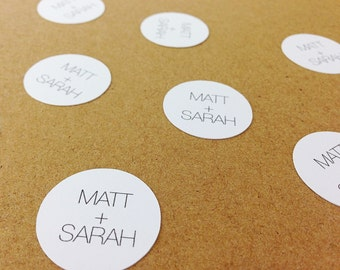 "100 Personalized Wedding Confetti - 1"" Custom Confetti. Tabletop Decor. Wedding Favors. Bachelorette Party. Engagement Party."