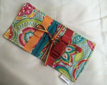 Floral Busy blanket - a buckle, snap, zip, Velcro, and button toy - fine motor skills practice
