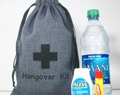 Hangover Kit Bag - Men's Hangover Kit - Groomsmen Hangover Kits