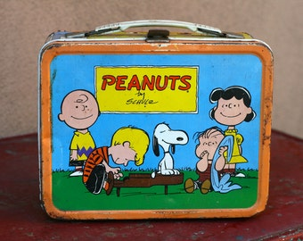Vintage Peanuts and the Gang Lunchbox from 1959