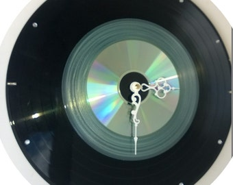 33 record and a 'Rare' semi clear white 45 record album with a CD - CooL clock