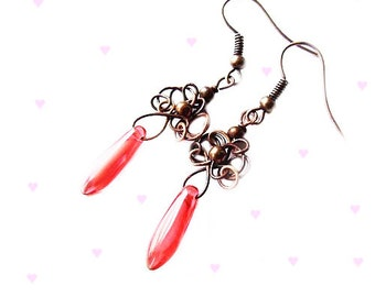 wire wrapped easy earrings tutorial - jewelry tutorial - easy retro wire wrapping earrings - tutorial 16