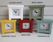 Cottage Clock, Country Clock, Mantel Clock, Bungalow Clock, Arts and Crafts Clock, Child Clock, Desk Clock, Milk Paint,