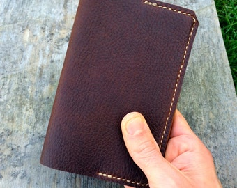 Leather notebook cover, Refillable journal, Personalized notebook, Travel Journal, Moleskine cover, Pocket notebook, Brown, Black, Tan