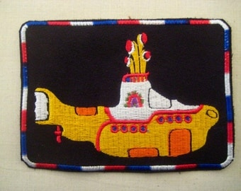 Patch Yellow Submarine Embroidered Suede 4 3/4""