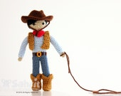 Instant Download Pattern Cory the Cowboy Amigurumi Crochet Doll