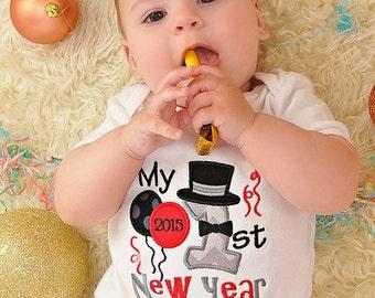 My First New Year, First New Year, Baby New Year, My First New Year, Boy New Year, Baby Gift, Baby Shower Gift, New Baby, Holiday Shirt