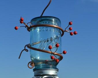 Ball Jar Bird Feeder