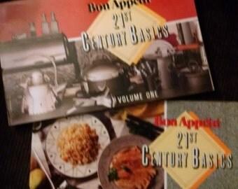 Bon Appetit 21st Century Basics,  Set of Two Cooking Booklets