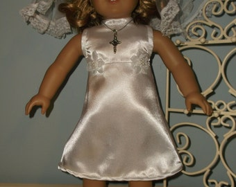 18 inch Doll First Holy Communion dress and veil or other special occasion dress