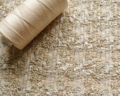 Lurex Boucle Tweed Pastel Peach, Champagne, Gold & White Fabric EX Designer - Sold by the metre UK SELLER