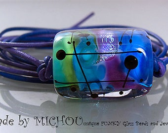 Funk power art glass pendant by michou by michoujewelry on for Anderson art glass