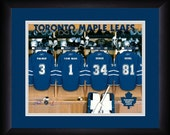 PERSONALIZED & FRAMED NHL Toronto Maple Leafs Sports Print