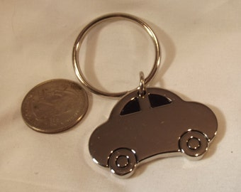 Keychain Vintage Stainless Steel Car Chain Whimsical Unsigned Different Heavy Metal Key Chain