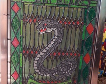 Slytherin Stained Glass Window