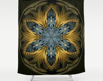 Nautical Star Orb Shower Curtain, Digital Art, Photography, Bathroom Decor, Bath Curtain, Home Decor