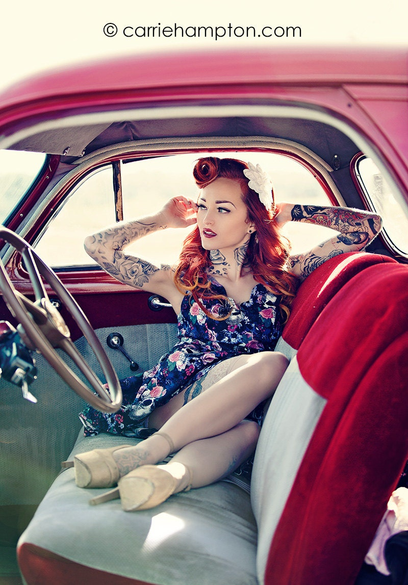 Jessica seamons pinup poster rockabilly redhead tattoo model - Tattooed pin up models ...