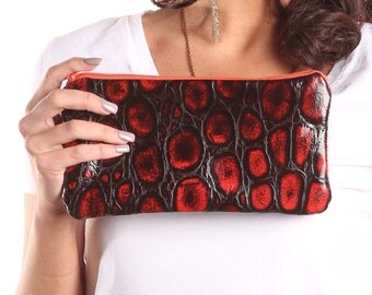 Reversible Clutch - Elite Italian Leather