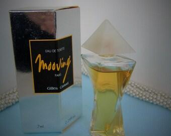 Giles Cantuel MOOVING Eau De Toilette w Box  7 ml., 0.24 oz. Vintage  Mini Perfume Collectible Miniature Perfume Bottle