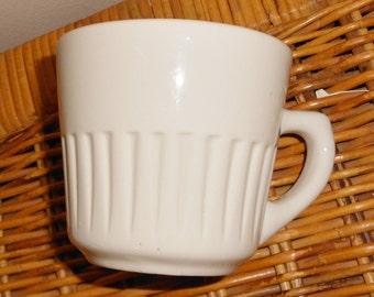 Vintage restaurant coffee cup Marked USA and some raised symbol mark