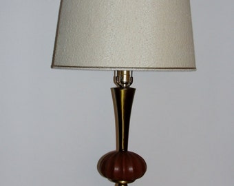 Vintage Table Lamp with Brass Accents