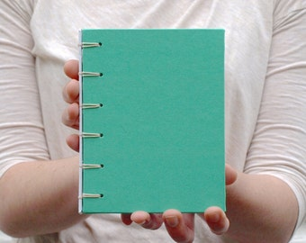 Mini Green Notebook with Spine
