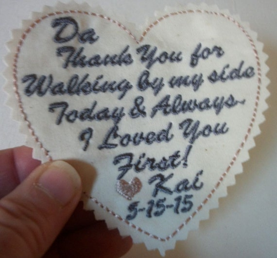 Wedding Gift For Step Dad : Custom Patch gift for the Father of the Bride - groomsmen - Step Dad ...