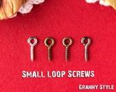 100 - Small Loop Screws - 2mm