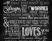 "Chalkboard Art ~ Song ""My Wish"""