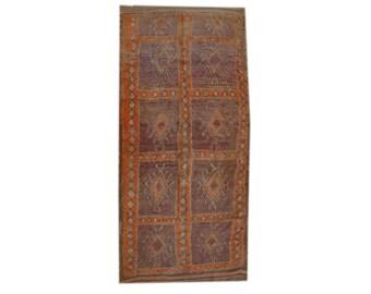 "Sunset Souk-  4'10"" x 9'10"" - 1.47m x 3.00m - Vintage Moroccan Rug - n.7"