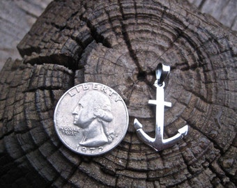 Vintage 925 Sterling Silver Anchor Pendant/Charm