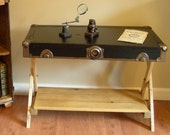 Trunk Lid Coffee Table, End Table, Upcycled, Campaign Furniture
