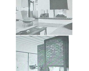 1960s Fireplace design book How to Plan and Build mid century modern