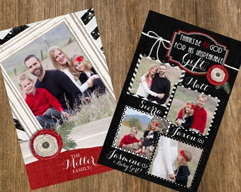 Christmas Card, Glitter Christmas Card, Glitter Chevron Christmas Card, Photo Christmas Card, Black and White Christmas Card