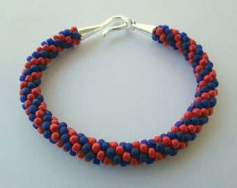 Washington Nationals Bracelet, Washington Nationals, Nationals Baseball, Nationals Bracelet, Baseball Bracelet, Baseball Jewelry, Kumihimo