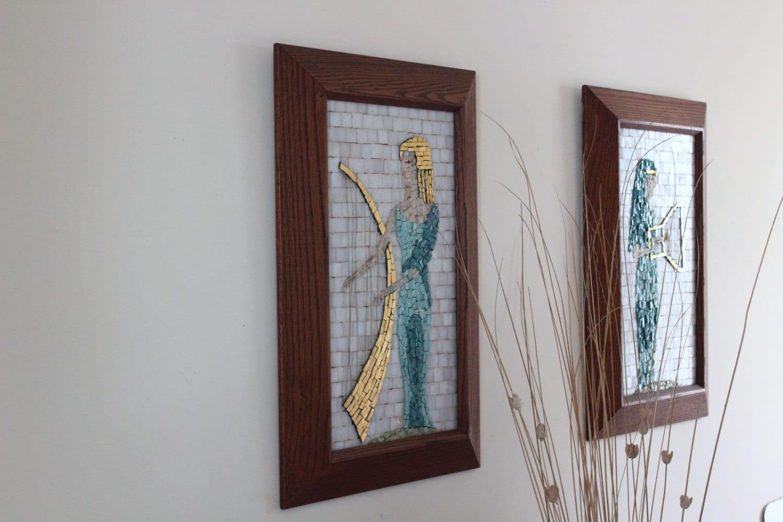 mid century mosaic wall art. Black Bedroom Furniture Sets. Home Design Ideas