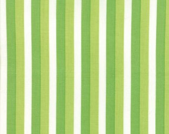 Color Theory Ombre Stripes Lime - Moda Fabrics 10835 13 Green