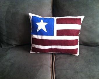 Handmade Patriotic/Americana Flag Pillow