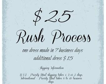Rush Process Dress, 7 Business Days, First Dress