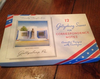 Gettysburg scene card assortment