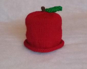 Cotton Handknit Apple Hat for infants